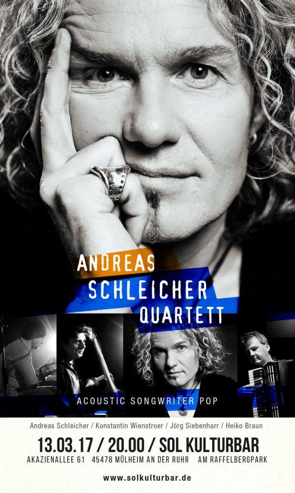 Andreas Schleicher Quartett live, Sol Kulturbar 2017