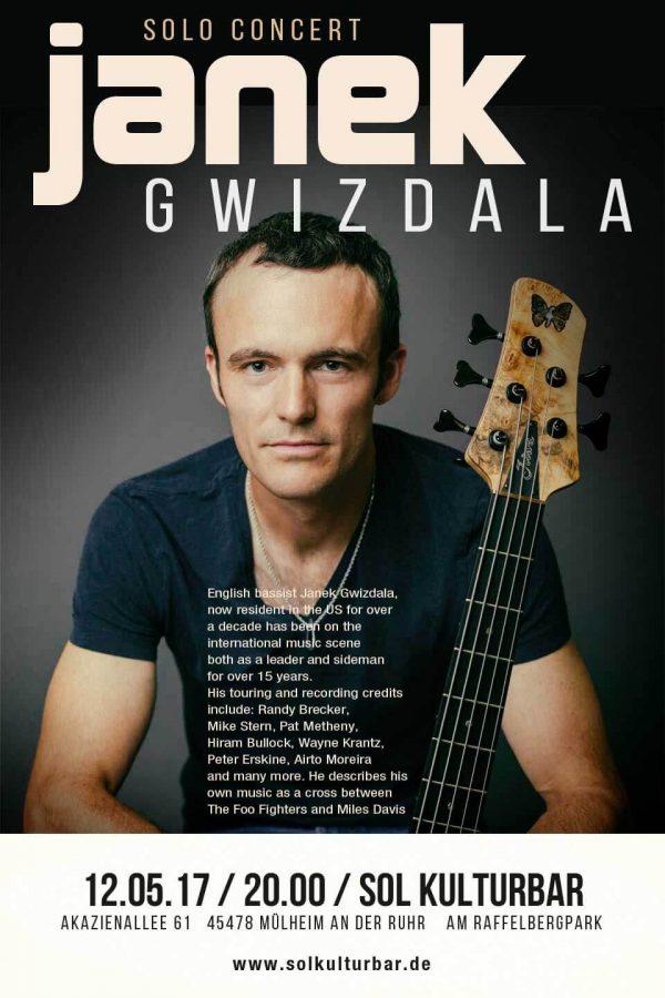 Janek Gwizdala solo concert, Sol Kulturbar, Mai 2017, Germany