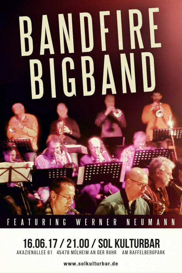 Juni 2017, Bandfire Bigband live @ www.solkulturbar.de