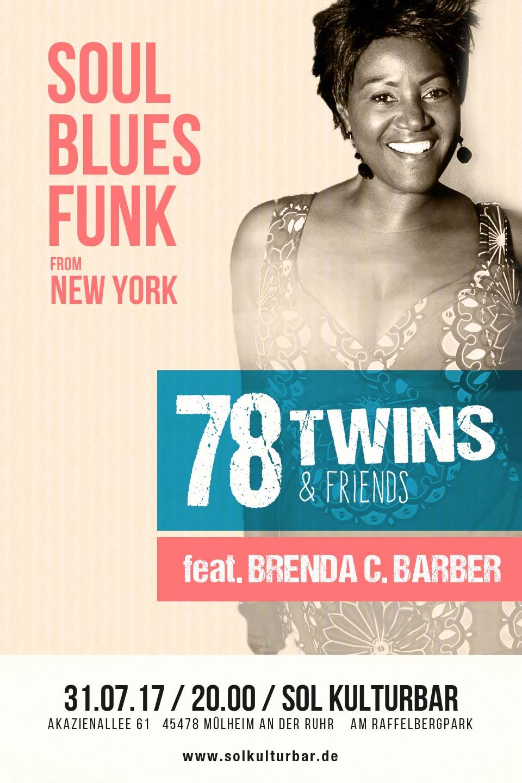 Juli 2017, 78 Twins feat. Brenda C. Bakery from NY, live@ Sol Kulturbar
