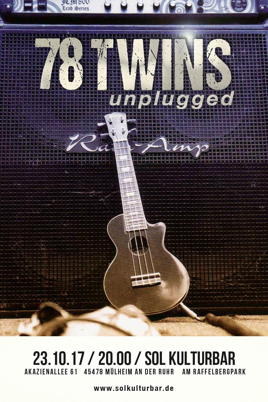 Oktober 2017, 78TWINS unplugged concert, www.solkulturbar.de
