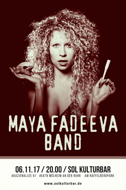 November 2017. Maya Fadeeva Band www.solkulturbar.de