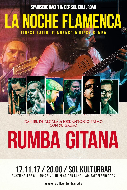 November 2017, Rumba Gitana, La Noche Flamenca 2, www.solkulturbar.de