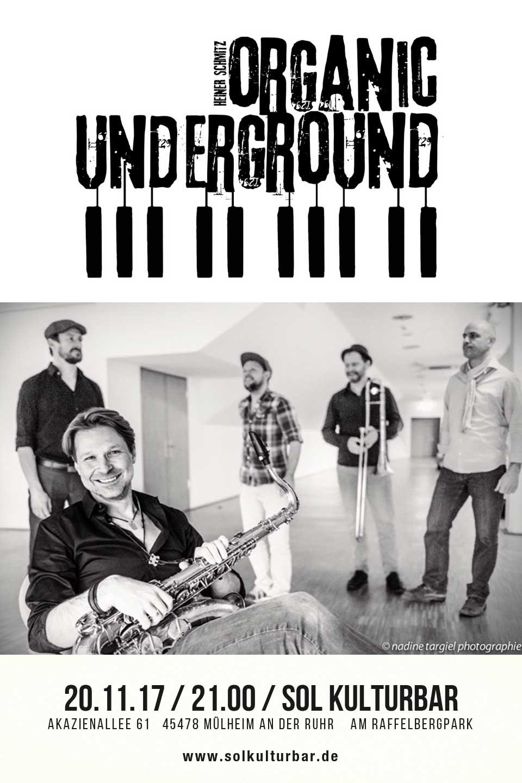 November 2017, Sol Concerts, Heiner Schmitz - Organic Underground - ww.solkulturbar.de