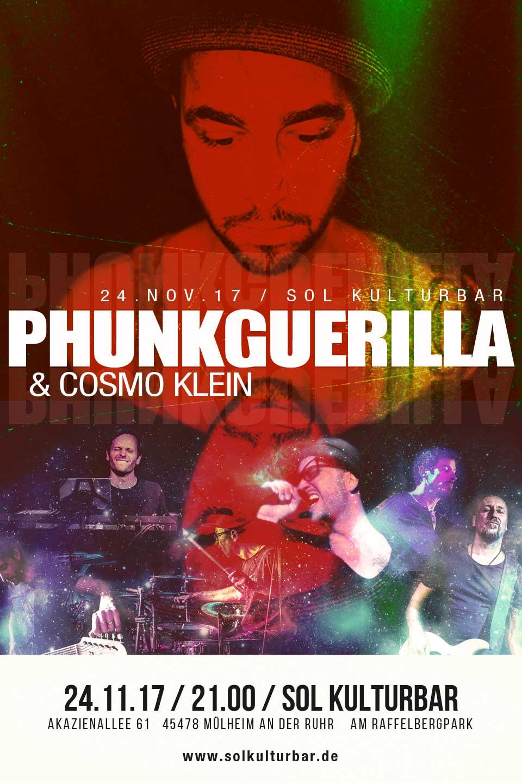 November 2017, Prunkguerilla & Cosmo Klein in concert - www.solkulturbar.de