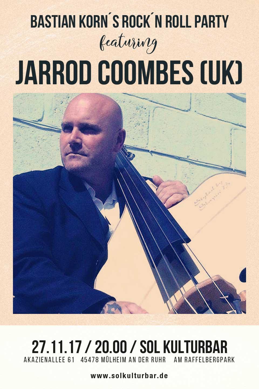 November 2017, Sol Concerts, Bastian Korn feat. Jarrod Coombes, www.solkulturbar.de