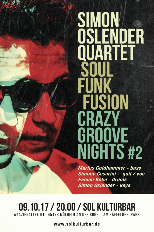 Oktober 2017 - Simon Oslender Quartet - Crazy Groove Nights 2 @ solkulturbar