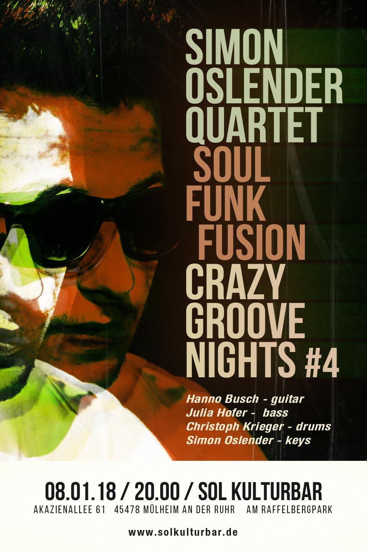 Januar 2018 Simon Oslender Crazy Groove Nights #4