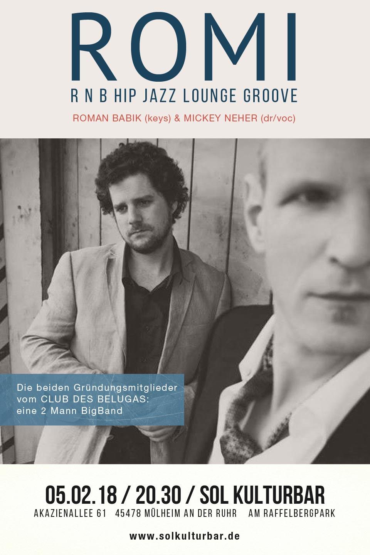 Februar 2018, Roman Batik und Mickey Neher, Sol Kulturbar, Sol Concerts