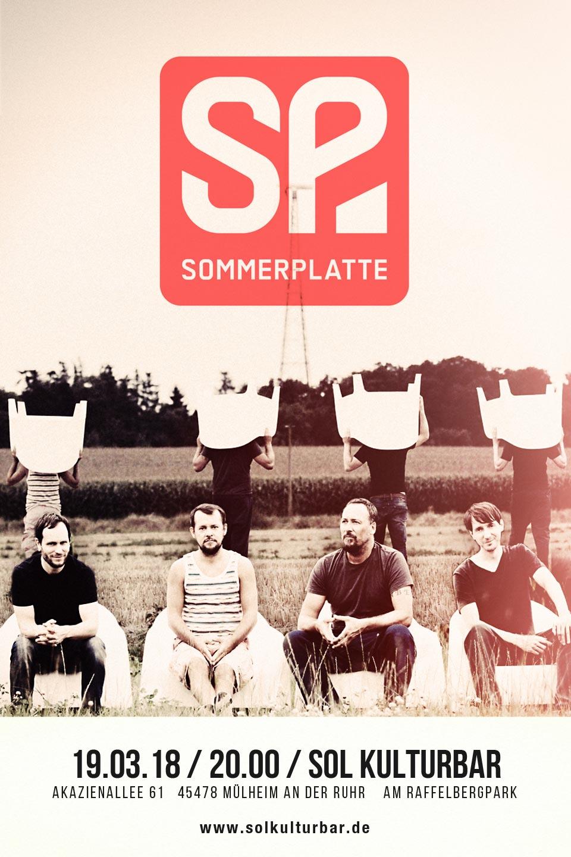 März 2018, Sommerplatte live in der Sol Kulturbar