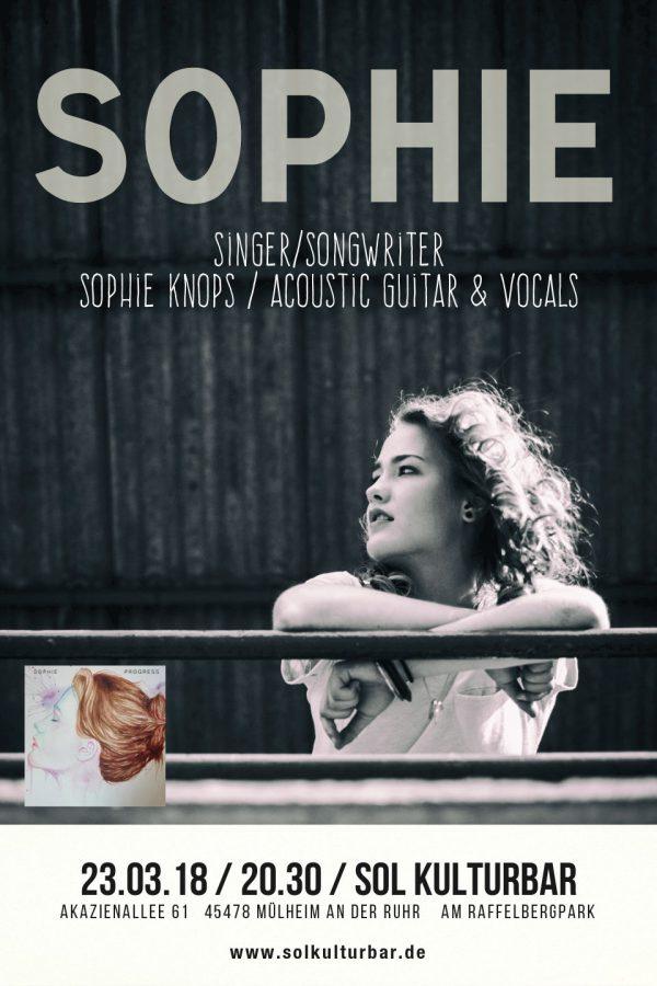 März 2018, Sophie Knops live in der Sol Kulturbar