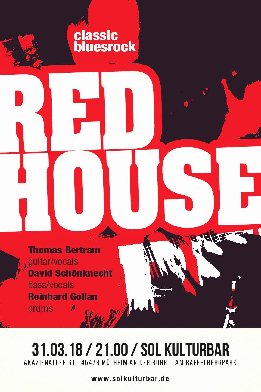März 2018, Red House, solkulturbar