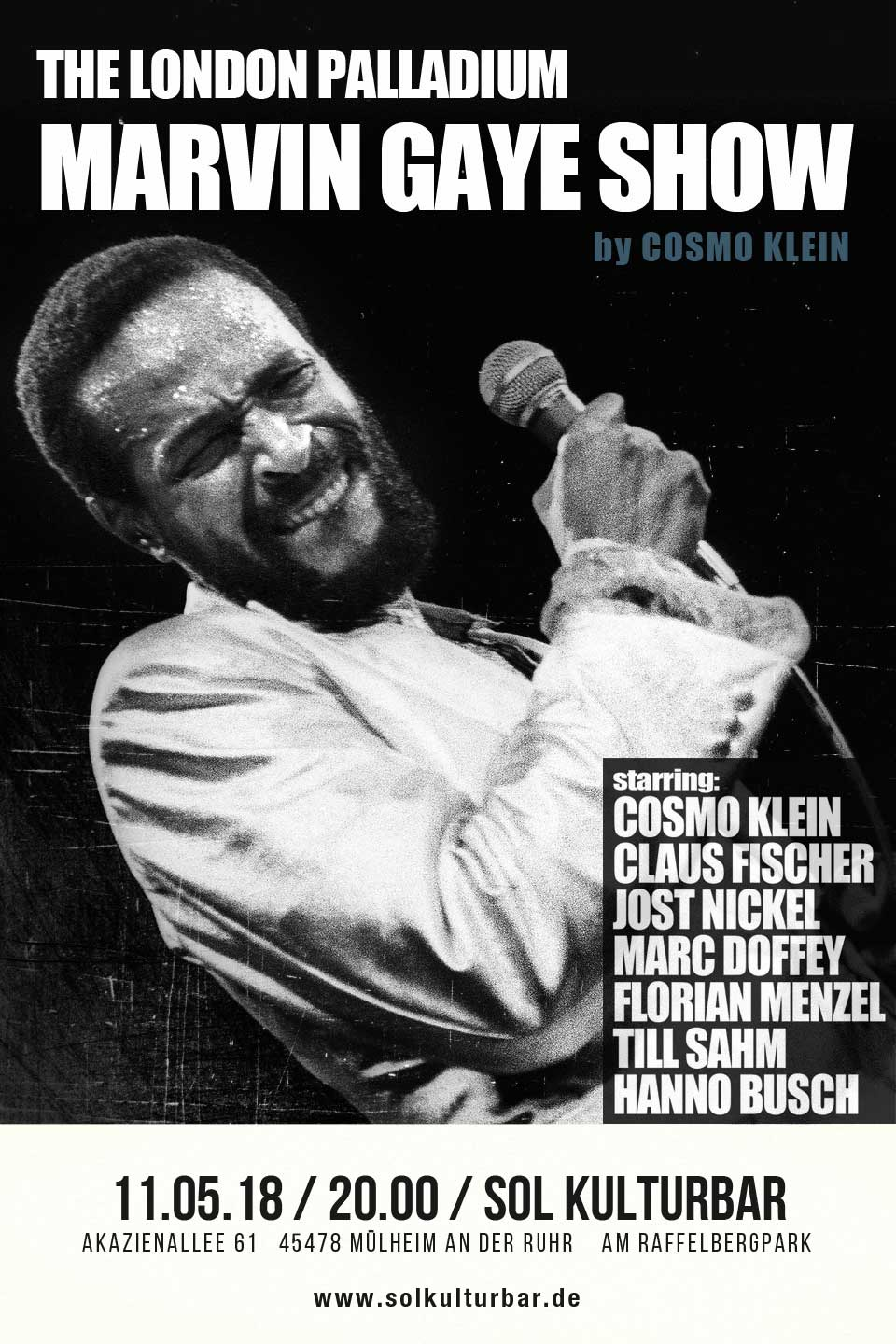 Mai 2018 Cosmo Klein presents The London Palldium Marvin Gaye Show