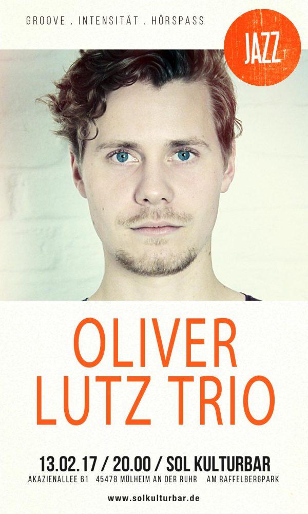 Oliver Lutz Trio live, Sol Kulturbar , Februar 2017