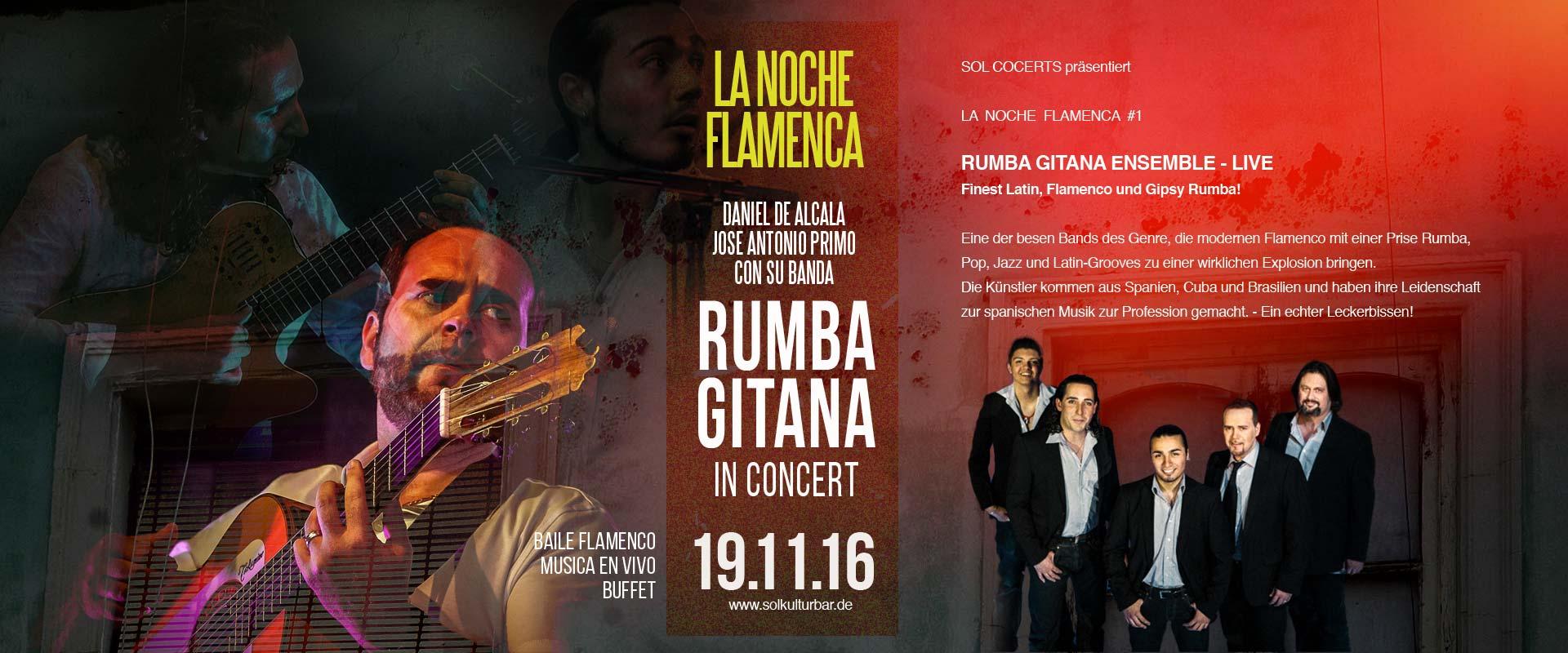 Daniel de Alcala y Jose Antonio Primo con su banda RUMBA GITANA